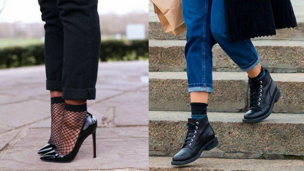 Meias – Dicas para compor o look usando a meia aparente + inspirações