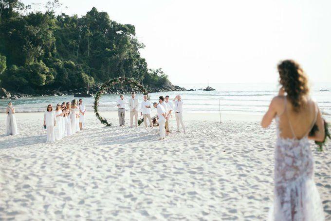 casamento a dois na praia