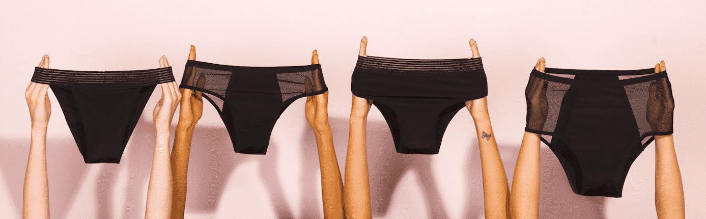 Absorventes sustentáveis: calcinha menstrual