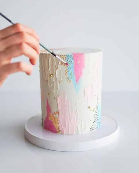 Como decorar bolo com pigmentação alimentício