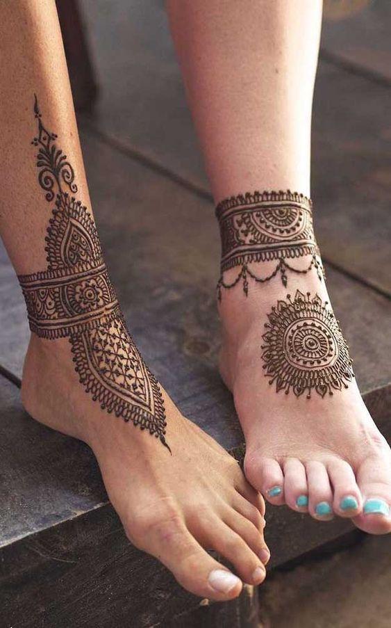 Inspiração tatuagens temporárias nos pés - Arte Milenar