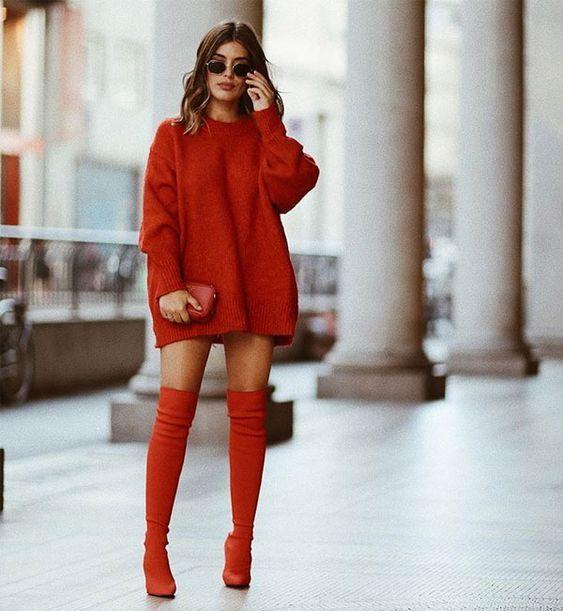 Looks Vermelhos -Monocromático