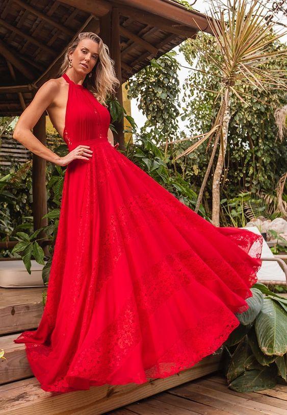 Looks vermelhos - vestido