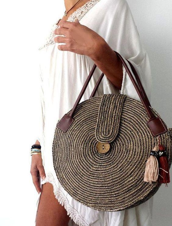 bolsa de palha ou rafia uso modelos inspiracoes 24 - Bolsa de paja - Uso, modelos + 18 inspiraciones