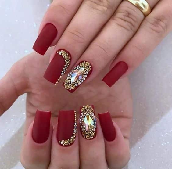 unhas vermelhas historia do esmalte vermelho 50 inspiracoes incriveis 10 - Uñas rojas - Historia del esmalte de uñas rojo + 50 inspiraciones increíbles
