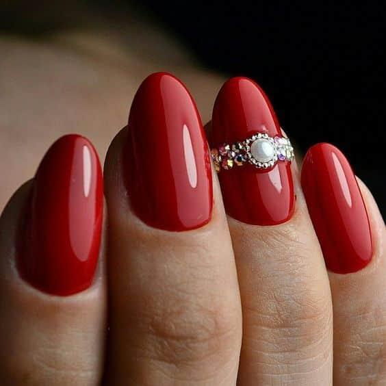 unhas vermelhas historia do esmalte vermelho 50 inspiracoes incriveis 11 - Uñas rojas - Historia del esmalte de uñas rojo + 50 inspiraciones increíbles