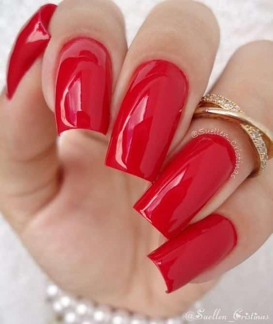 unhas vermelhas historia do esmalte vermelho 50 inspiracoes incriveis 31 - Uñas rojas - Historia del esmalte de uñas rojo + 50 inspiraciones increíbles