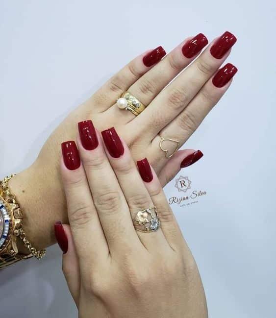 unhas vermelhas historia do esmalte vermelho 50 inspiracoes incriveis 39 - Uñas rojas - Historia del esmalte de uñas rojo + 50 inspiraciones increíbles