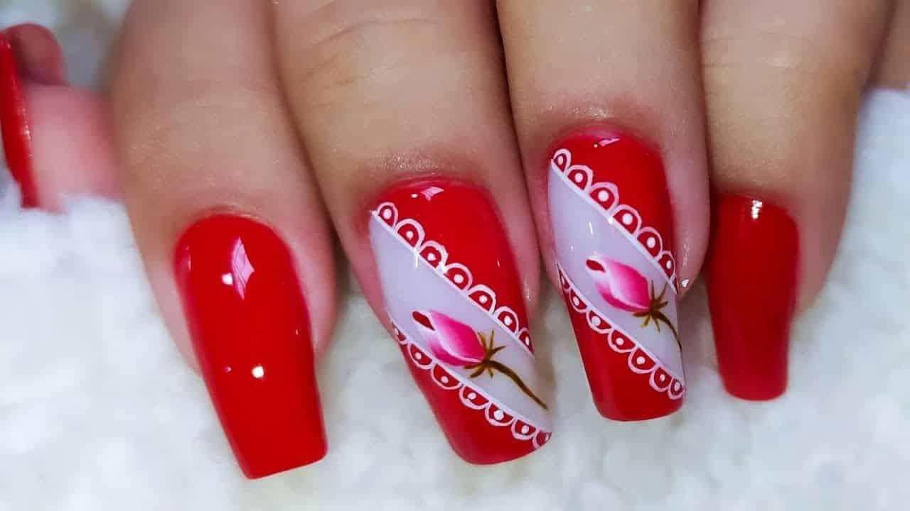 unhas vermelhas historia do esmalte vermelho 50 inspiracoes incriveis 41 - Uñas rojas - Historia del esmalte de uñas rojo + 50 inspiraciones increíbles