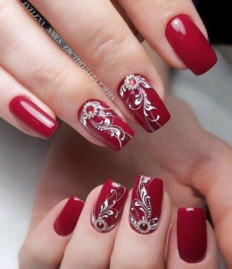 unhas vermelhas historia do esmalte vermelho 50 inspiracoes incriveis 47 - Uñas rojas - Historia del esmalte de uñas rojo + 50 inspiraciones increíbles