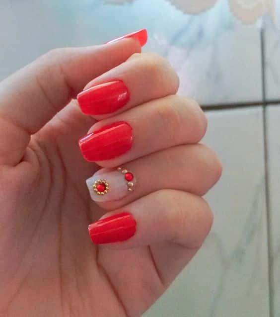 unhas vermelhas historia do esmalte vermelho 50 inspiracoes incriveis 9 - Uñas rojas - Historia del esmalte de uñas rojo + 50 inspiraciones increíbles