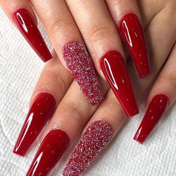 unhas vermelhas historia do esmalte vermelho 50 inspiracoes incriveis - Uñas rojas - Historia del esmalte de uñas rojo + 50 inspiraciones increíbles