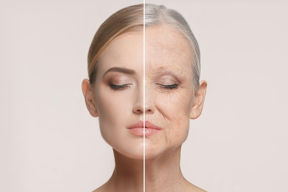 Mulher mostra indícios de envelhecimento precoce