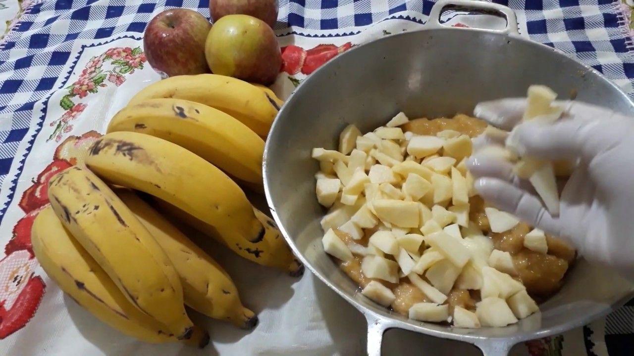 Doce de banana e maçã