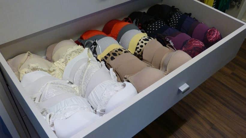 Como guardar sutiã e ganhar mais espaço no guarda-roupa