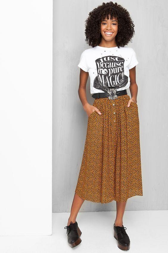 Saias da moda - conheça os modelos e como combinar cada saia